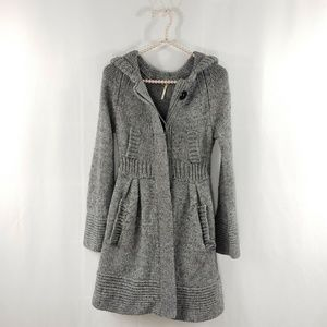 Free People Cardigan Hooded Wool Blend Sweater